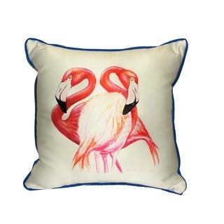 Two Flamingo's 18-inch Indoor/Outdoor Pillow