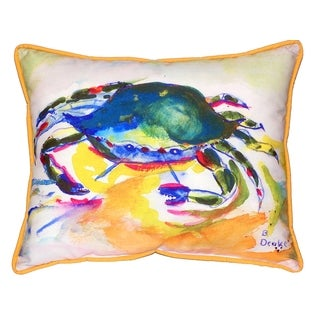 Green Crab 16x20-inch Indoor/Outdoor Pillow