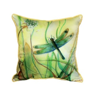 Betsy's Dragonfly 18-inch-inch Indoor/Outdoor Pillow