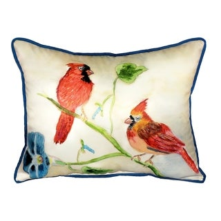 Betsy's Cardinals 16x20-inch Indoor/Outdoor Pillow