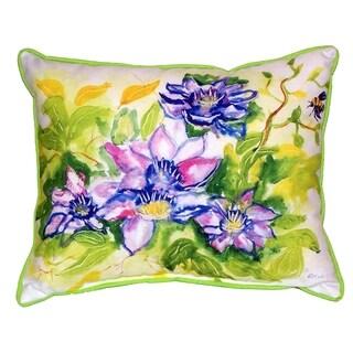 Clematis 16x20-inch Indoor/Outdoor Pillow