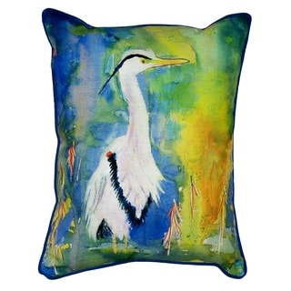 D&B's Blue Heron 16x20-inch Indoor/Outdoor Pillow