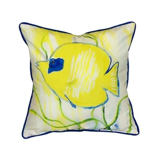 Yellow Tang 18-inch Indoor/Outdoor Pillow