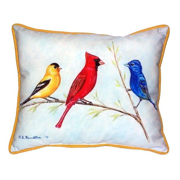 Shop Three Birds 16x20 Inch Indoor Outdoor Pillow Free