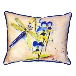 Blue Dragonfly 16x20-inch Indoor/Outdoor Pillow