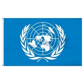 Polyester United Nations Flag (3' x 5')