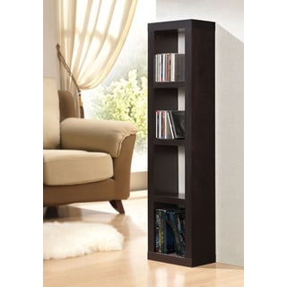 Carmeno Espresso Bookshelf with CD/DVD Unit