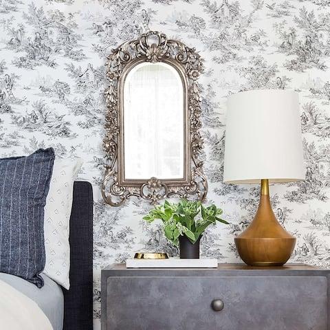 Sherwood Accent Mirror - silver leaf