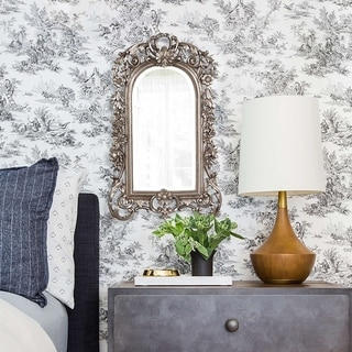 Sherwood Accent Mirror - silver leaf