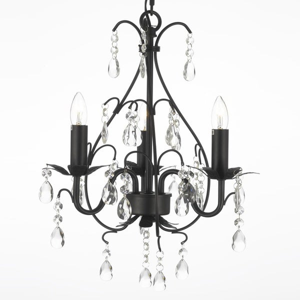 Gallery wrought iron and crystal 3 light swag plug in chandelier gallery wrought iron and crystal 3 light swag plug in chandelier aloadofball
