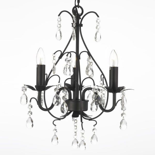 Gallery wrought iron and crystal 3 light swag plug in chandelier gallery wrought iron and crystal 3 light swag plug in chandelier aloadofball Image collections