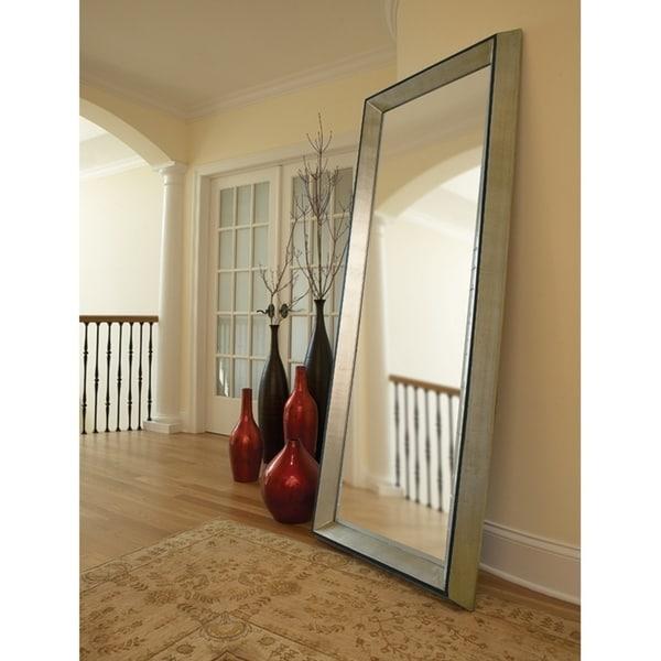 Holland Oversized Leaner Mirror - Black/Silver
