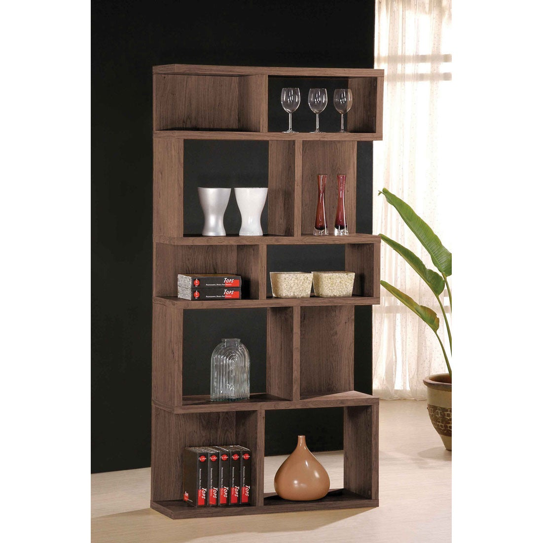 consignment half oak height upscale bookshelf