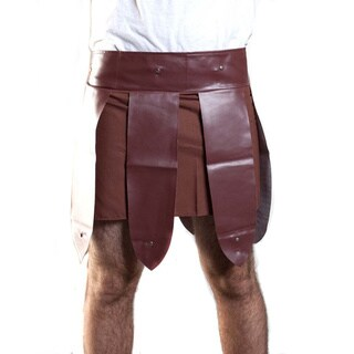Roman Gladiator Men's Trojan Warrior Skirt Costume