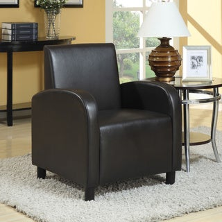 Maxie Black PU Accent Chair