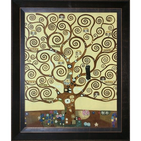 Gustav Klimt Tree of Life Hand Painted Framed Canvas Art