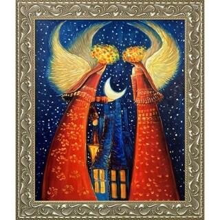 Justyna Kopania Angels II Hand Painted Framed Canvas Art