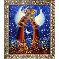 Justyna Kopania Angels III Hand Painted Framed Canvas Art