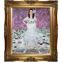 Gustav Klimt Portrait of Mada Primavesi Hand Painted Framed Canvas Art