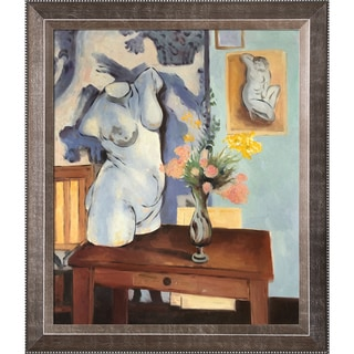 Henri Matisse Greek Torso with Flowers Hand Painted Framed Canvas Art