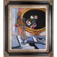 Henri Matisse Anemone and Mirror Hand Painted Framed Canvas Art