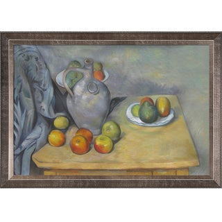 Paul Cezanne Pitchet et Fruits sur une Table Hand Painted Framed Canvas Art