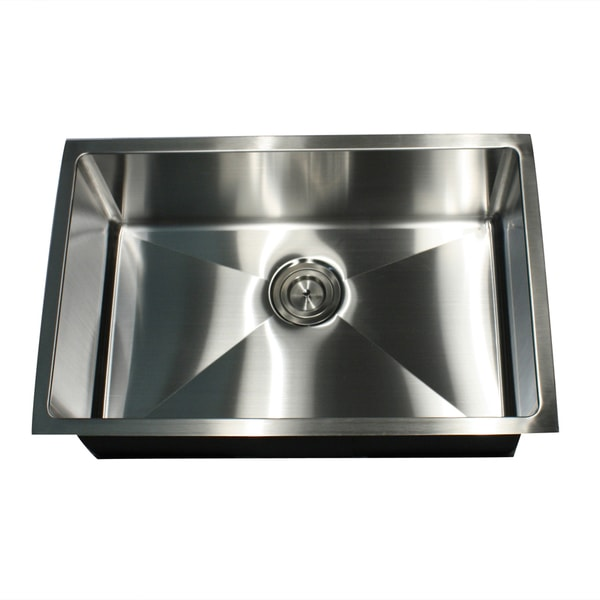 shop 16 gauge undermount small radius 28 inch stainless steel kitchen sink with drain free. Black Bedroom Furniture Sets. Home Design Ideas
