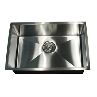 16-Gauge Undermount Small Radius 28 Inch Stainless Steel Kitchen Sink with Drain