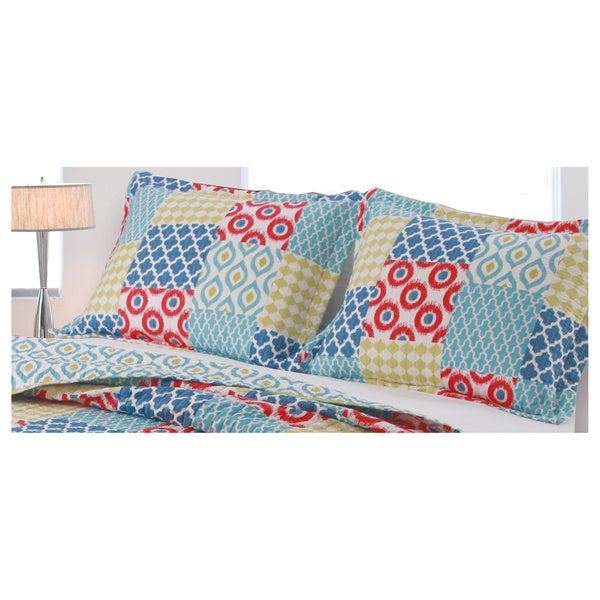 Greenland Home Fashions Kendall Pillow Multi-colored Patchwork Sham Set