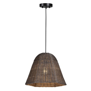 Ren Wil Wicker Ceiling Fixture