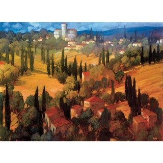Philip Craig 'Tuscan Castle' 30 x 41-inch Gallery-wrapped Canvas