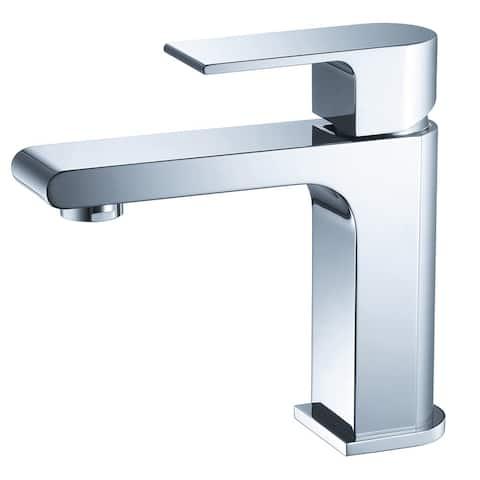 Fresca Allaro Single Hole Mount Bathroom Vanity Faucet Chrome