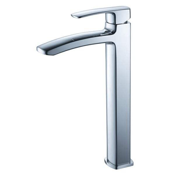 Single Hole Vanity Faucet : Fresca Fiora Single Hole Vessel Mount Bathroom Vanity Faucet - Chrome ...