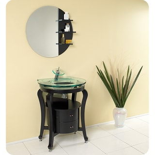 Fresca Simpatico Espresso Modern Bathroom Vanity with Mirror and Shelves