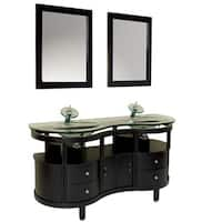 Fresca Unico Espresso Modern Bathroom Vanity w/ Mirrors