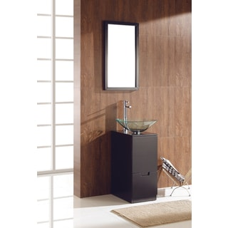 Fresca Brilliante Espresso Modern Bathroom Vanity w/ Mirror