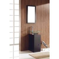 Fresca Brilliante Espresso Modern Bathroom Vanity w/ Mirror
