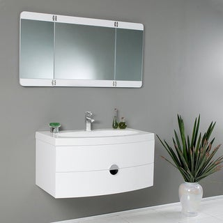 Fresca torino 36 inch white modern bathroom vanity with undermount - The Best Deals On All Fresca Bathroom White Products Overstock Com