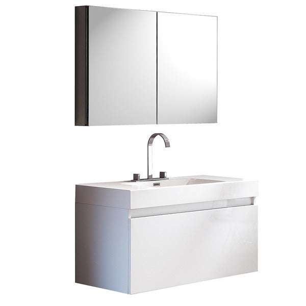 allier 72 inch white modern double sink bathroom vanity with mirror