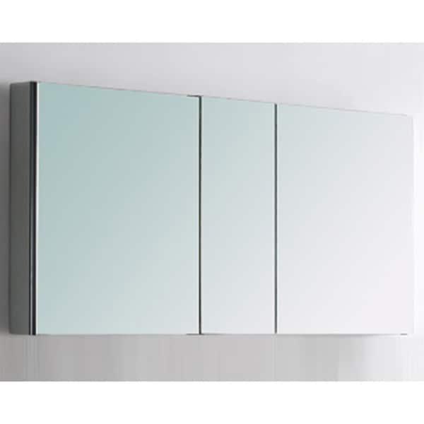 Fresca 50 wide bathroom medicine cabinet w mirrors 17132162 shopping big for Fresca 60 wide bathroom medicine cabinet w mirrors