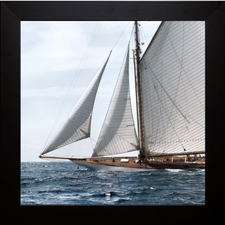 Jorge Llovet 'Sailing South' Framed Art Print - Black