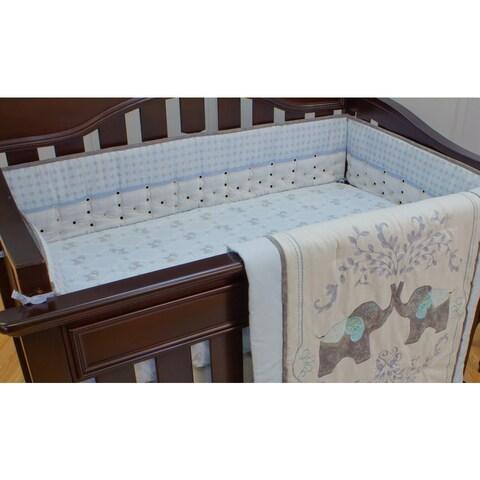 Nurture Imagination Elephant Jubilee Airflow Crib Bumper