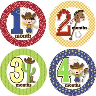Rocket Bug Ride 'Em Cowboy Monthly Baby Bodysuit Stickers|https://ak1.ostkcdn.com/images/products/9980862/P17132632.jpg?impolicy=medium
