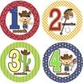 Rocket Bug Ride 'Em Cowboy Monthly Baby Bodysuit Stickers