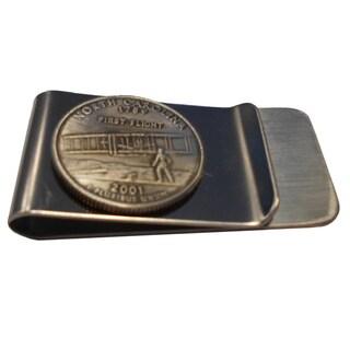 Handmade North Carolina State Quarter Coin Money Clip