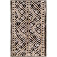 Hand-Knotted Tony Nature Indoor Area Rug - 5' x 8'
