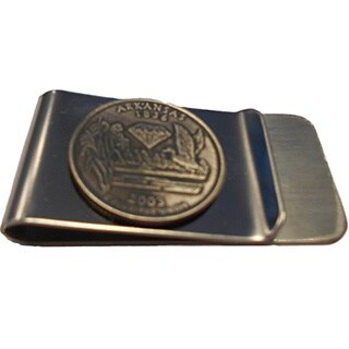 Handmade Arkansas State Quarter Coin Money Clip