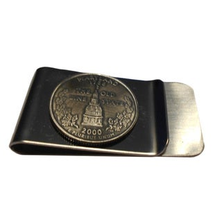 Handmade Maryland State Quarter Coin Money Clip