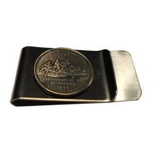 Handmade New Jersey State Quarter Coin Money Clip