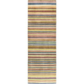 Hand-Loomed Tonya Stripe New Zealand Wool Rug (2'6 x 8')